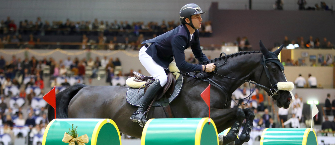 GUERDAT Steve (SUI) riding Alamo during the 18e Finale du Top 10 Rolex IJRC on December 7, 2018 in Geneva, Switzerland. (Photo by Scoop Dyga/Icon Sport)