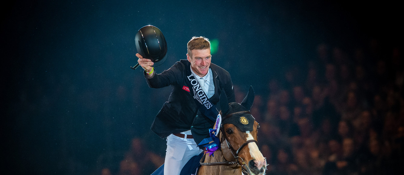 Longines FEI World Cup™ Jumping Olympia London International winners William Whitaker (GBR) & Utamaro D EcaussinesPhoto FEI/Jon Stroud-