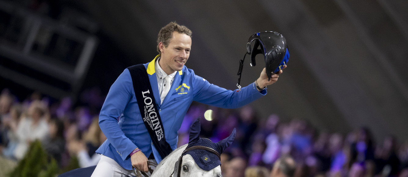 Longines FEI World Cup™ Jumping Mechelen BEL Ahlmann Christian, GER, Clintrexo ZVlaanderens Kerstjumping - Memorial Eric Wauters - Mechelen 2018Photo FEI/Hippo Foto - Dirk Caremans30/12/2018