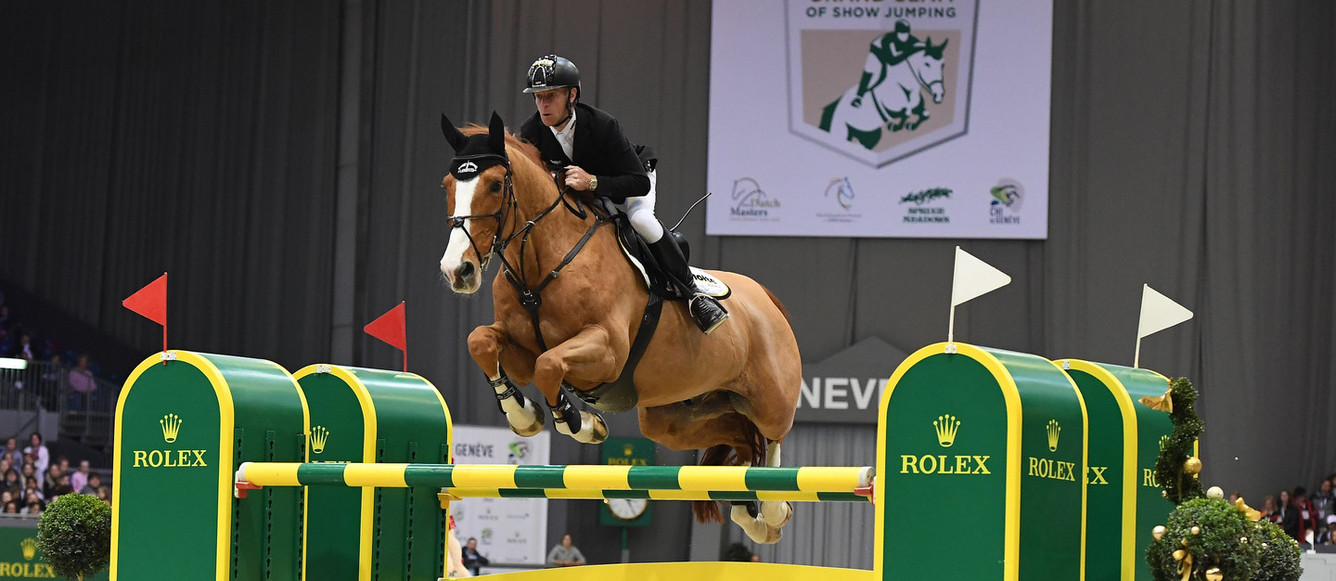 Marcus Ehning riding Pret A ToutWinner of the Rolex Grand Prix at CHI Geneva